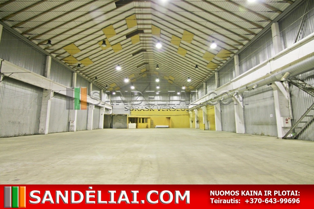 8 Warehouse for rent in vilnius