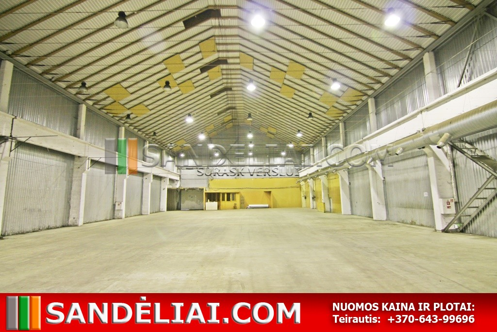 9 Commercial premises for rent vilnius warehouse